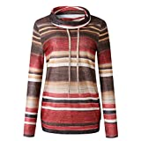 Yizenge Casual Cowl Neck Sweatshirts for Women