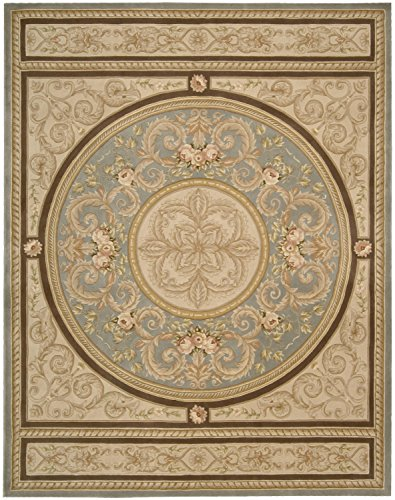 Nourison Versailles Palace (VP48) Blue Rectangle Area Rug, 8-Feet by 11-Feet (8' x 11')