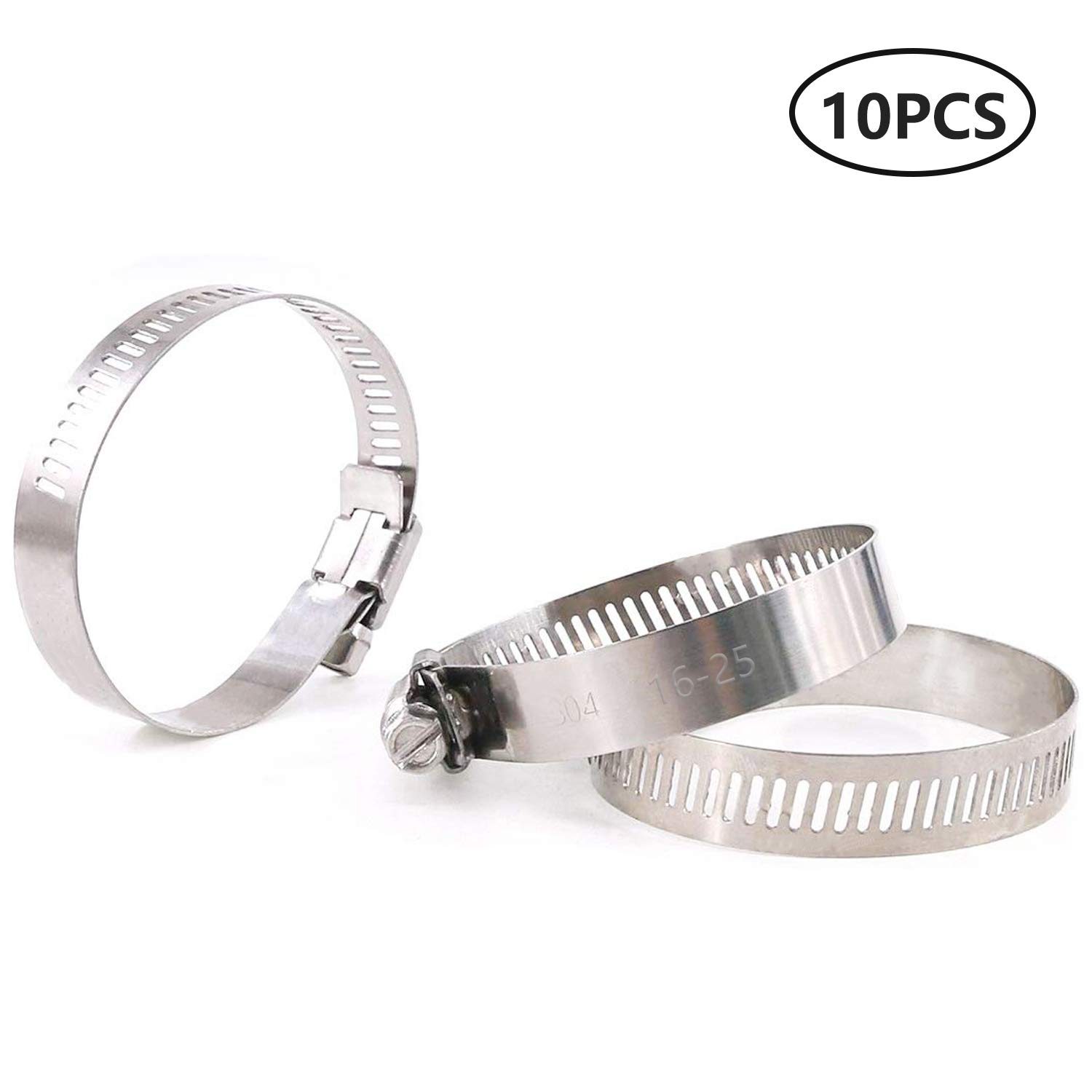AIPRODA Micro Hose Clamp Adjustable 304 Stainless Steel Duct Clamps,Worm Gear Adjustable Hose Clamp 5//8inches Pack of 10