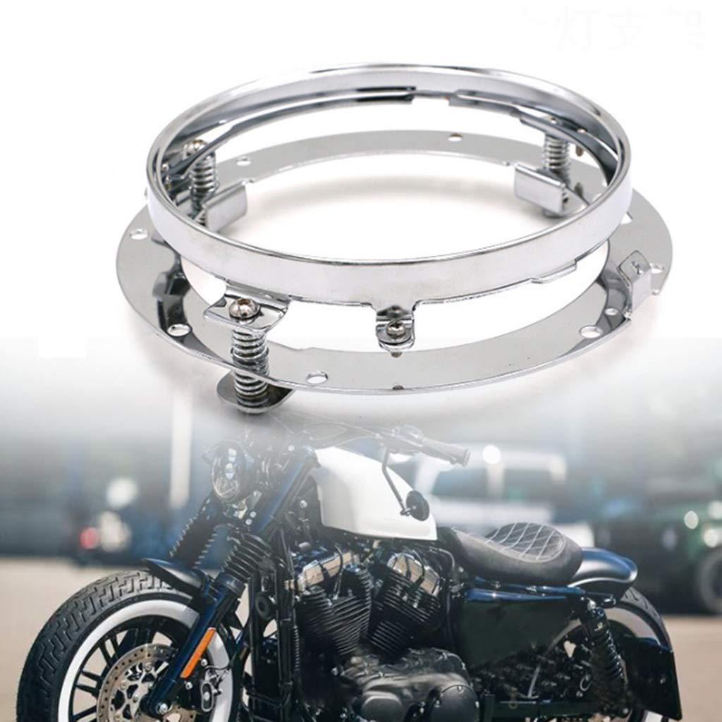 Shiwaki Motorcycle Headlight Bracket 7 inch Lamp Holder for Harley Scooter Motorbike