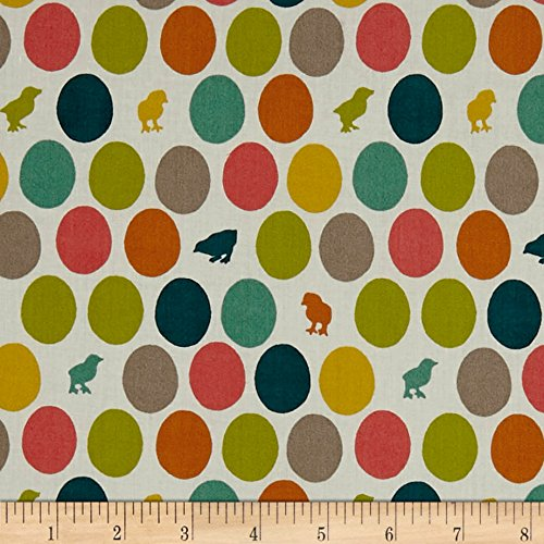 Birch Organic Farm Fresh Hatched Multi Fabric By The Yard (Birch Farm White)