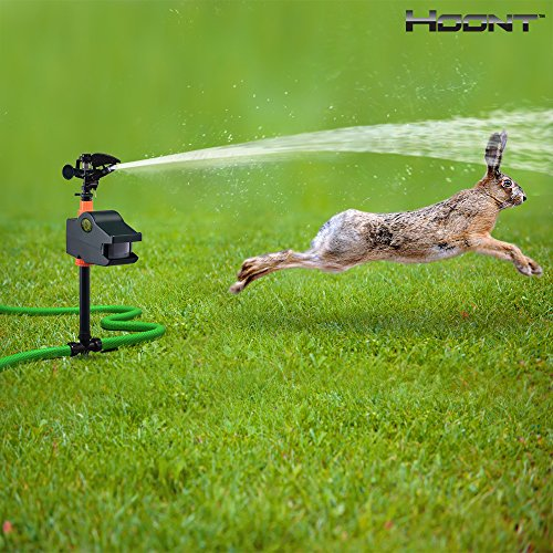 Hoontª Powerful Outdoor Water Jet Blaster Animal Pest Repeller - Motion Activated - Blasts Cats, Dogs, Squirrels
