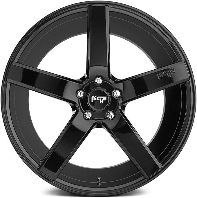 Niche Milan M188 22x10 35 Gloss Black Wheel 5x127 5x5 QTY 1