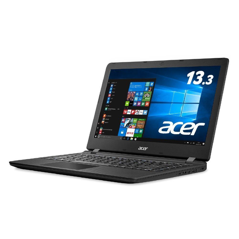 Acer ノートパソコン AspireES13 ES1-332-F14P/K(ミッドナイトブラック) Windows10/Celeron/13.3インチ/4GB/SSD 64GB B078TW8F74, 菓匠 華月 31a939e9