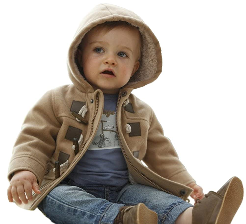 Baby Boys Toddlers Cotton Blend Hooded Duffle Coat Toggle Coat