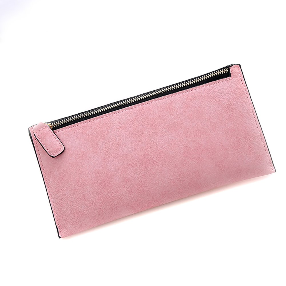 Etbotu Women Wallet,Soft Frosted PU Leather Clutches,Solid color Coins Purse Handbag with Zipper Closure
