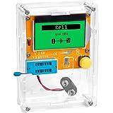 OSOYOO(オソヨー)トランジスタテスター コンデンサ インダクタンス 抵抗器計 アナライザー 半導体 テスター ダイオード など電子部品を測定 マルチメーターテスター 見にくい抵抗のカラーコード、表示の消えかかったコンデンサ等も部品を挿して、ボタン一発で値を表示します。