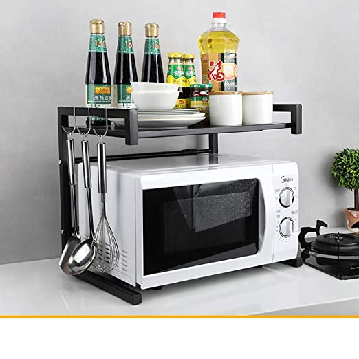 WWDS Retráctil Horno Microondas,Cocina Rack,Horno Almacenamiento ...