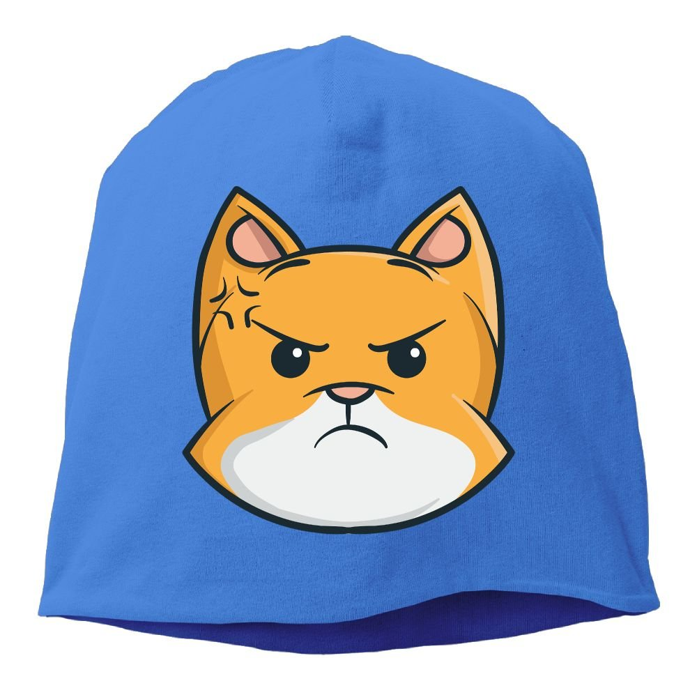 Headscarf Angry Cat Hip-Hop Knitted Hat for Mens Womens Fashion Beanie Cap