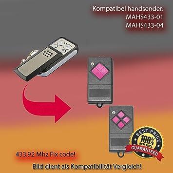 Dickert MAHS433-04 4-Befehl Mini-Handsender 433 Mhz