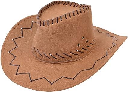 Mens Wild Western Fancy Dress Christmas Accessory Felt Cowboy Studded Hat UK