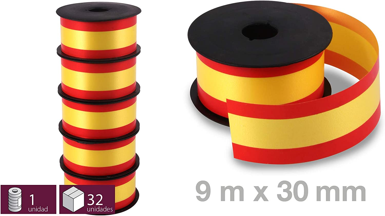 5 Rollos de Cinta Decorativa con la Bandera España para Regalos ...