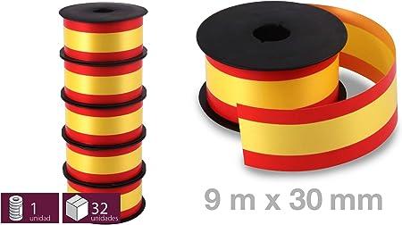 5 Rollos de Cinta Decorativa con la Bandera España para Regalos, Lazos, Pulseras, Flores - 30 Mm X 5,5m: Amazon.es: Hogar
