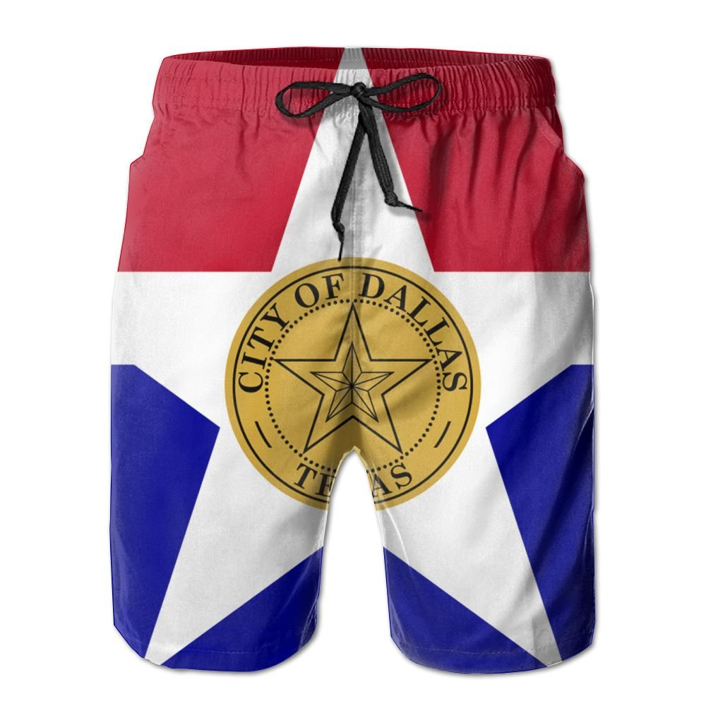 New Cartoon Fashion Flag Of Dallas Summer Beach Pants Casual Shorts For Man