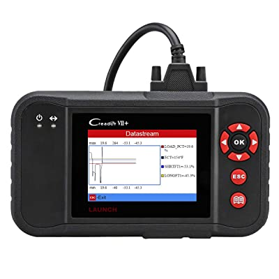LAUNCH X431 Creader VII+ (CRP123) Auto Code Reader EOBD, OBD2 Scanner Scan Tool Testing Engine/Transmission/ABS/Airbag System Update via PC: Automotive