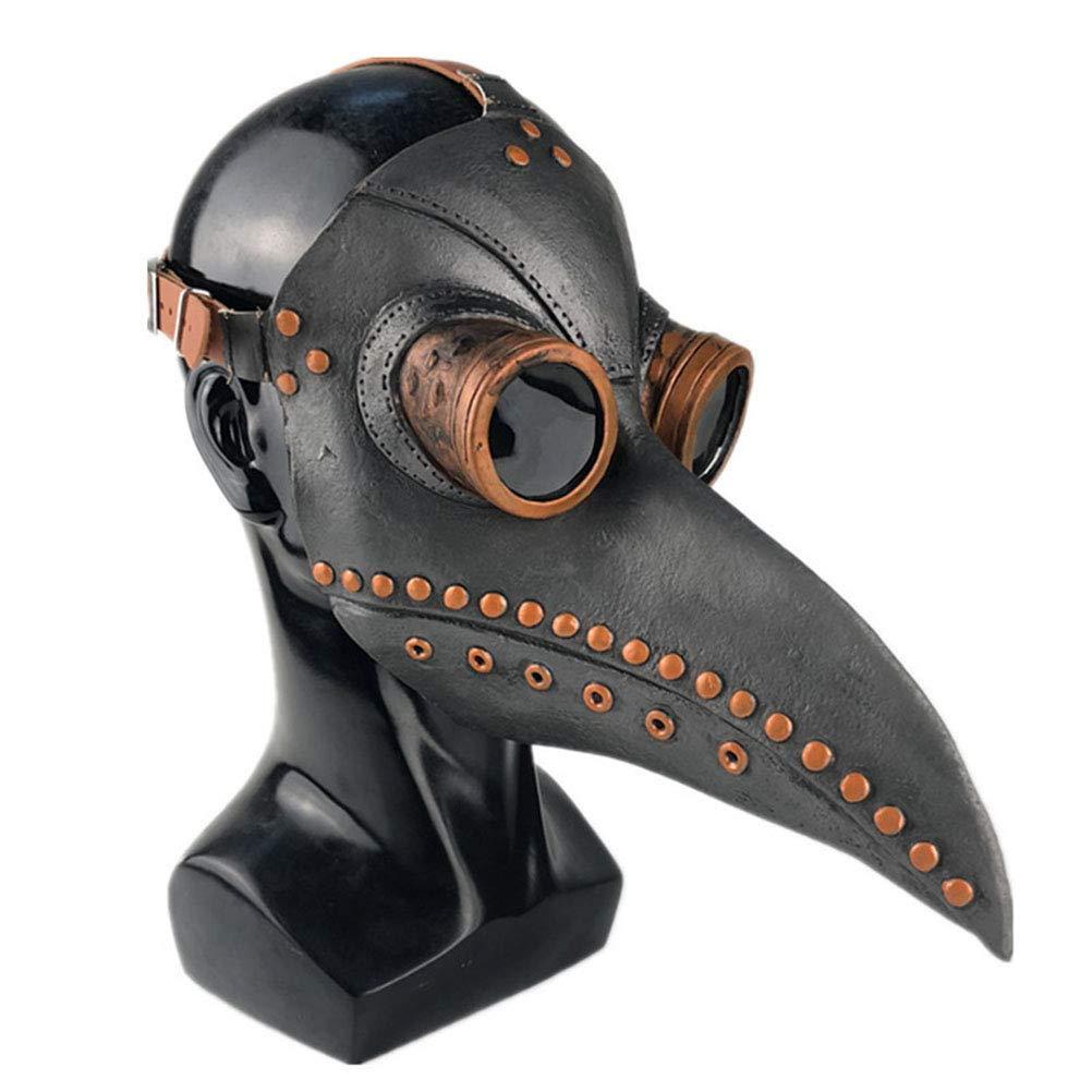 Gutyan Maschera del Dottore della Peste Maschera Spaventosa di Halloween Maschera dei Parassiti Dottore Doctor Head Mask Party Carnevale Cosplay Puntelli