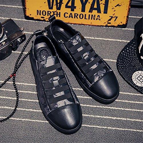 Mocassins shoes Noir Floral Homme Shufang pour U05qwHdH