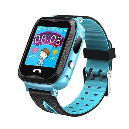Beimaji Trade Niños Impermeable Reloj Inteligente con cámara y luz Nocturna GPS Pantalla táctil Reloj Inteligente Pulsera para niños niñas niños ...