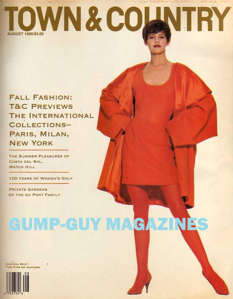 Town Country August 1990 Magazine Fall Fashion T C Previews The International Collections Paris Milan And New York Unk Frank Zachary Amazon Com Books