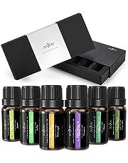 Ätherische Öle Set, Anjou Aromatherapie Duftöl, 100% Pur, 6 x 10 ml (Lavendel, Teebaum, Eukalyptus, Zitronengras, Orange, Pfefferminze)