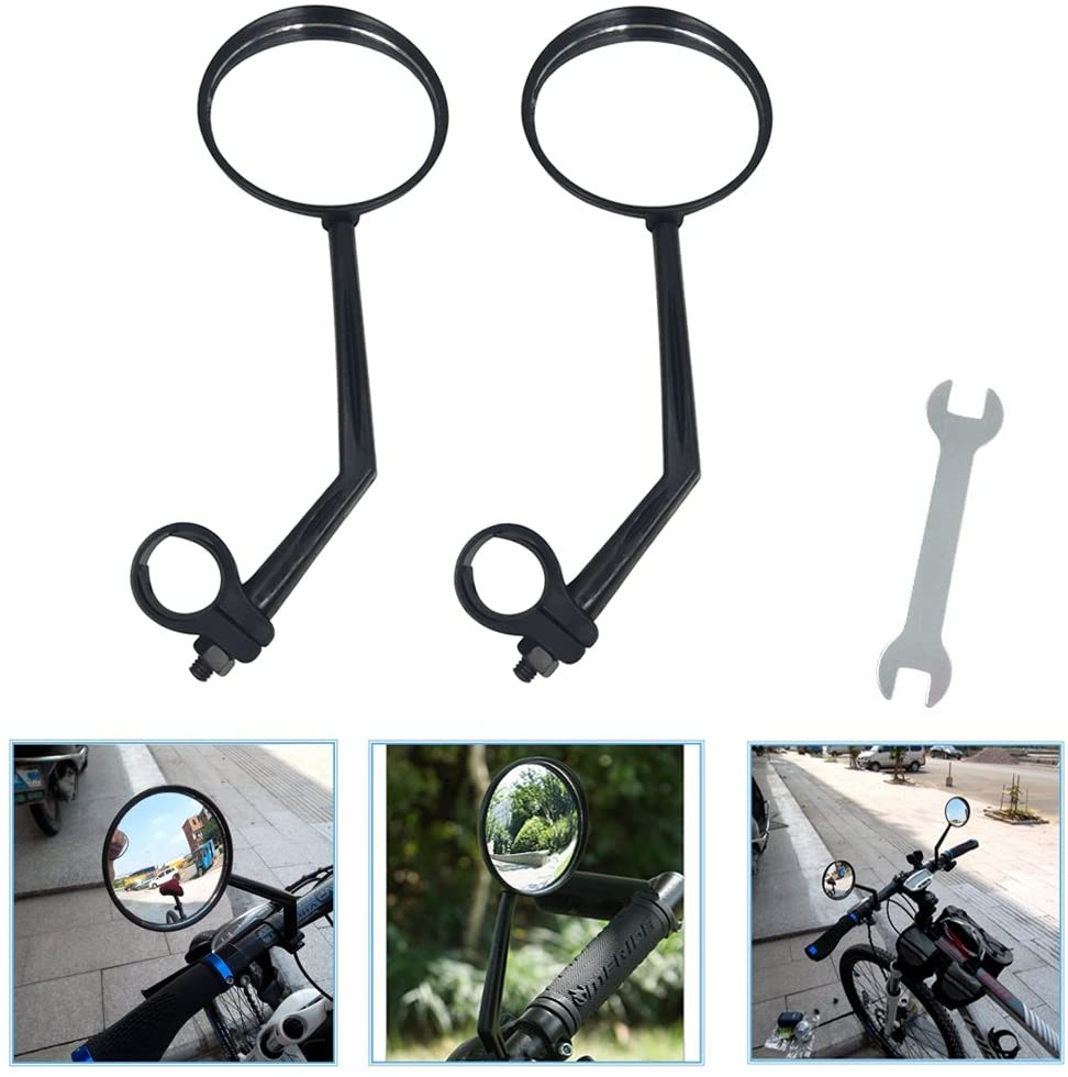 1pc Cycling Universal  Handlebar Mirror 360C Rotate Bike Bicycle Rearview P1 RC