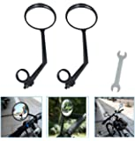 A Pair of Rearview Bicycle Mirrors, Bike Mirrors Support 360°Rotation (Suitable for Mountain Bike, Off-Road Bike and…