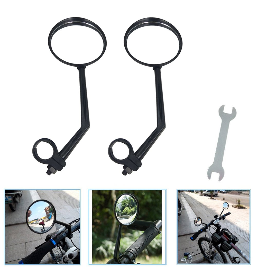 A Pair of Rearview Bicycle Mirrors, Bike Mirrors Support 360°Rotation (Suitable for Mountain Bike, Off-Road Bike and Fixed Gear Bike with The Handlebar 1.8 cm - 2 cm (0.71 in - 0.79 in) Diameter) by ZOSEN (Image #1)