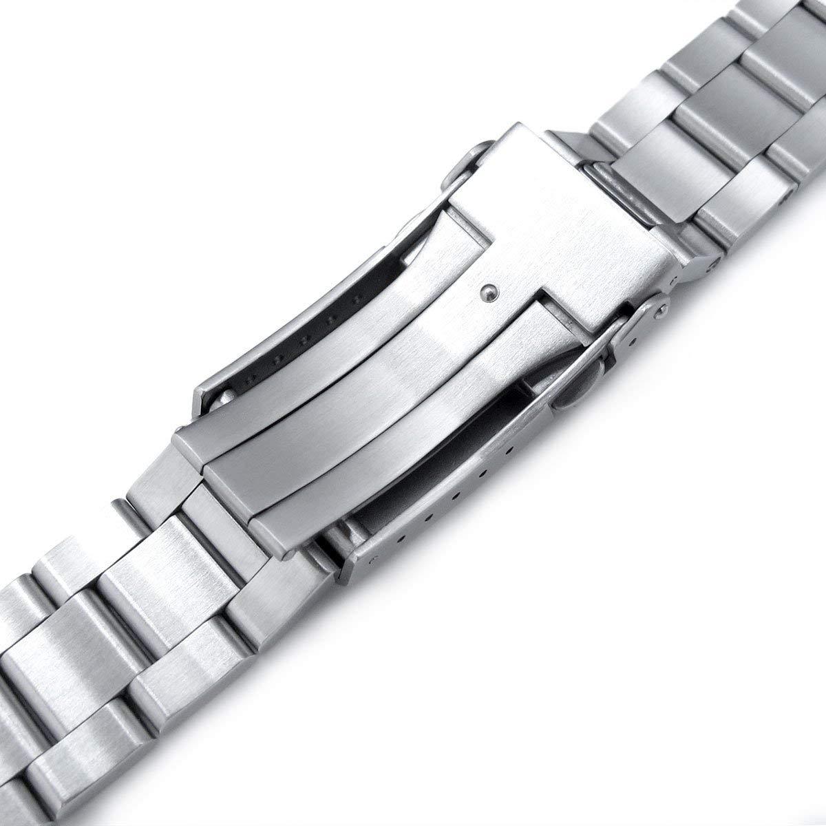 22mm Super 3D Oyster 316L SS Watch Bracelet for Tudor Black Bay, V-Clasp Brushed by MiLTAT (Image #5)