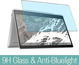 """Synvy Anti Blue Light Tempered Glass Screen Protector for HP Chromebook Enterprise x360 14E G1 14"""" Visible Area 9H Protective Screen Film Protectors"""