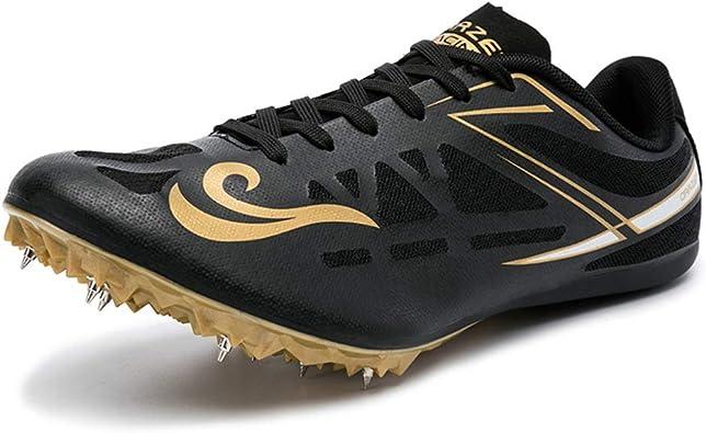 ZLYZS Pistas de Atletismo, Zapatillas de Atletismo Junior Zapatillas de Deporte de Entrenamiento para Correr Picos de Carrera Unisex Picos de Sprint: Amazon.es: Zapatos y complementos