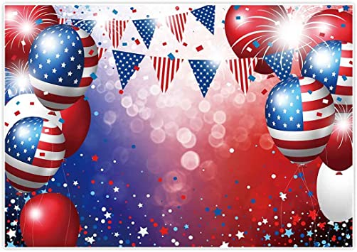OERJU 12x8ft Happy Independence Day Backdrop for Photography Retro American Flag Stars and Stripes Patriotic Celebration 4th of July Banner Photo Studio Props Newborn Baby Shower Vinyl Wallpaper
