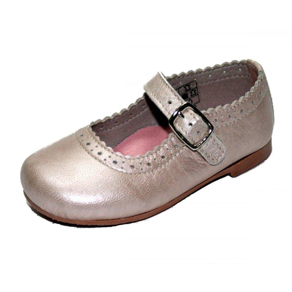 3d06267b1 Thousand Merceditas Niña Hebilla Piel Napa Metalizada  Amazon.es  Zapatos y  complementos