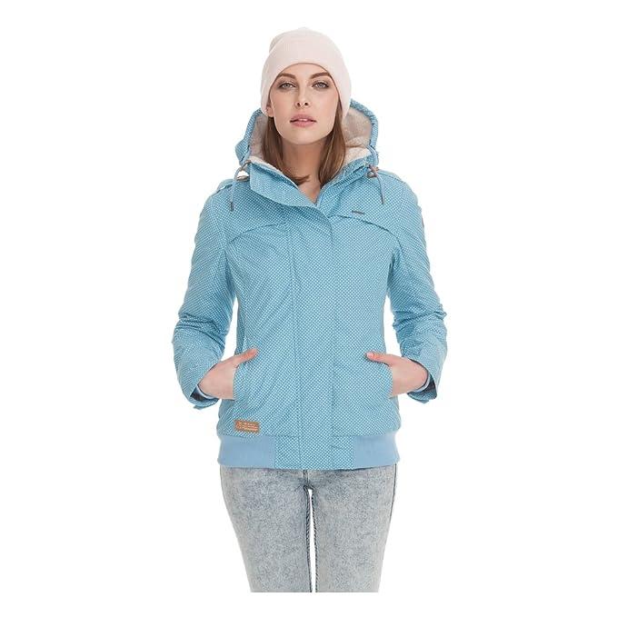 Ragwear Damen Winterjacke Kapuzenjacke Lynx Dusty Blue Gr