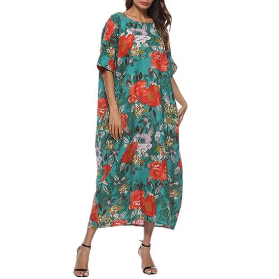 Maxi Dresses for Women丨Deep V Neck Boho Butterfly Print Summer Casual Sleeveless Dress丨Womens Loose Party Dress Plus Size