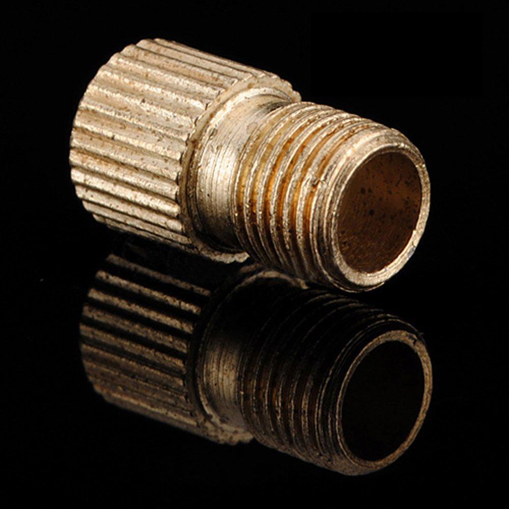 SODIAL (R) 2 pezzi in ottone Presta a pompa Schrader Valve Adattatore per bicicletta SODIAL(R)