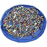WowMaker Kids Play Mat Toy Organizer - 60 inches Toy Storage Bag & Floor Mat - Portable Children's Play Mat (Blue)