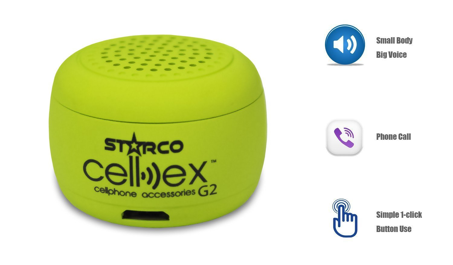 Amazon.com: Starco Cellex G2,Mini Bluetooth Wireless Speaker,2 in 1 Music Playback and answering/Making Calls,Loud Sound and Sleek Design: Home Audio & ...