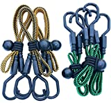 HeavyWeight Flat Bungee Cords 6 VARIETY PACK with BONUS 6 Ball Bungees | 24'' and 32'' Inch Cord Length | Hand Carts, Dolly, Cargo, Moving, Camping, RV, Trunk, Luggage Rack, Tarp Tie Down