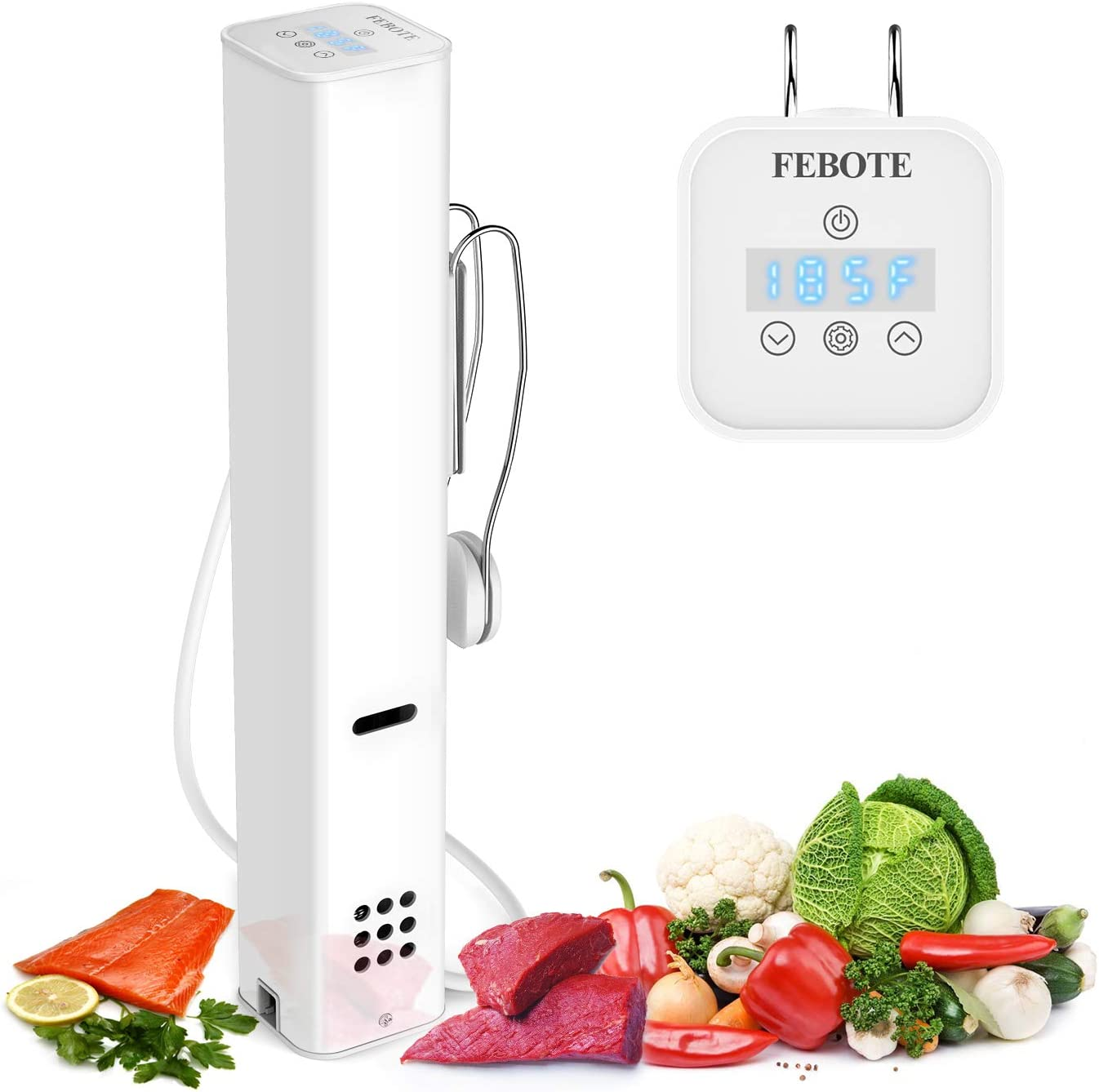 FEBOTE Sous Vide Cooker, 1000W Fast Heating Immersion Cooker, Professional Accurate Temperature Control Digital Timer