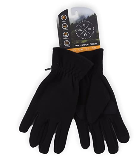 db8ab343d9c Fleece Gloves - Touchscreen, Thermal Soft Fleece Gloves for Winter Warmth -  Fits Men and