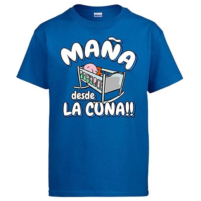 Camiseta Maña desde la cuna Zaragoza fútbol: Amazon.es: Ropa y accesorios
