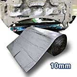 LINGDA 6.5 SqFT 10mm Heat Shield Thermal Sound Insulation Proofing Deadener Mat Car Noise Control Acoustic Dampening Moistureproof Waterproof (40inch X 24inch)