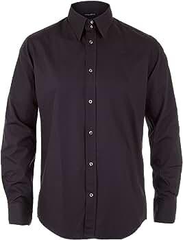 Dolce & Gabbana D&G Camisa Formal - Para Hombre Negro Negro: Amazon.es: Ropa y accesorios