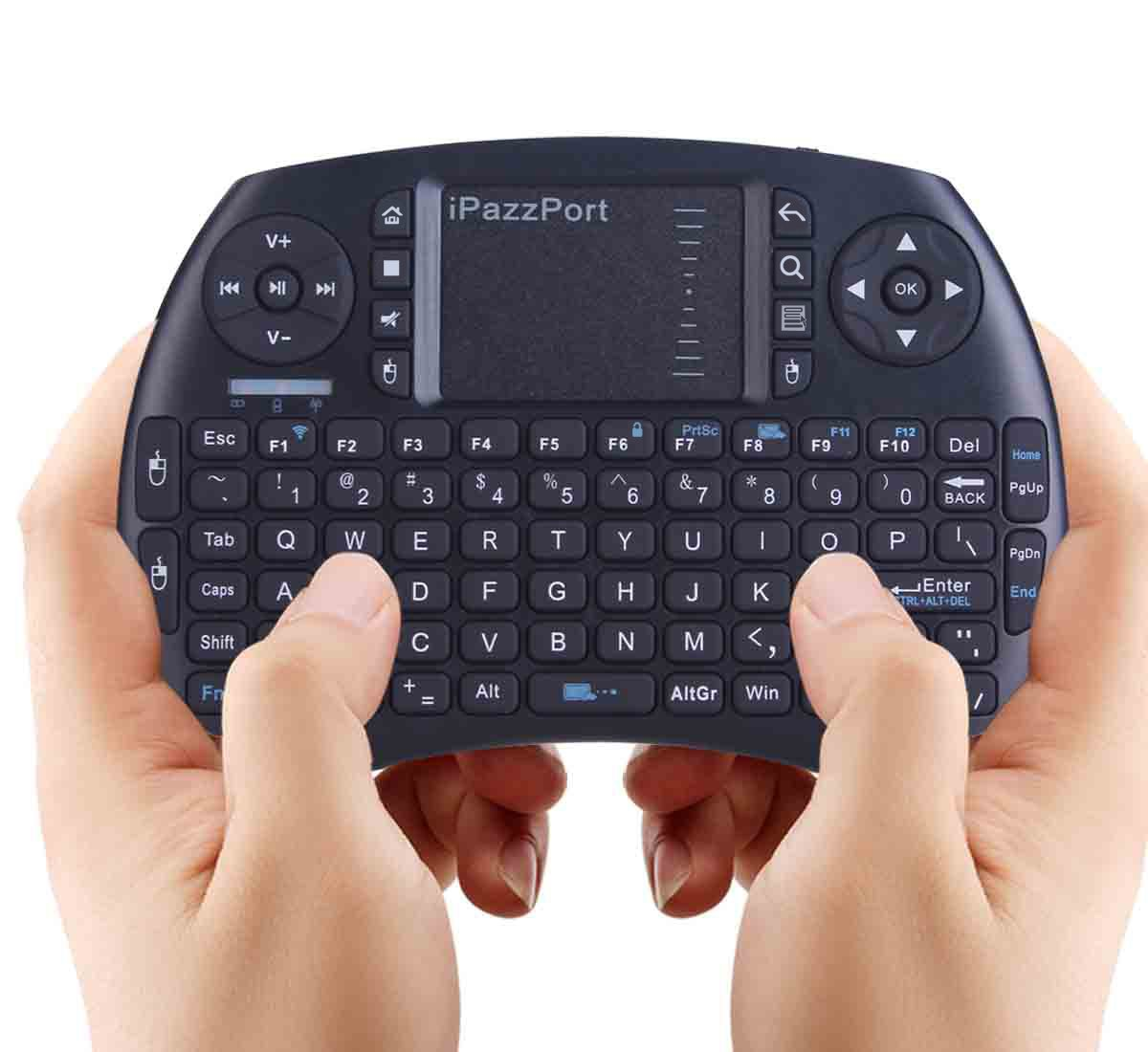 ipazzport wireless mini keyboard with touchpad for android tv box and raspberry 799491935228 ebay. Black Bedroom Furniture Sets. Home Design Ideas