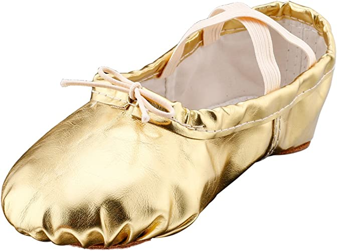 Elastic Woman Girls Soft Ballet Slipper Flat Sole Belly Dancing Shoes Sneaker