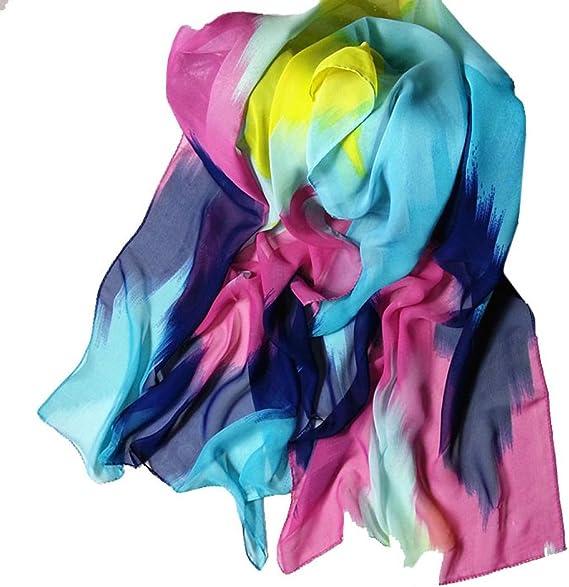 Fashion Filles Femmes Long Wrap Lady Shawl Gris Floral en Mousseline De Soie Écharpe écharpes Étole