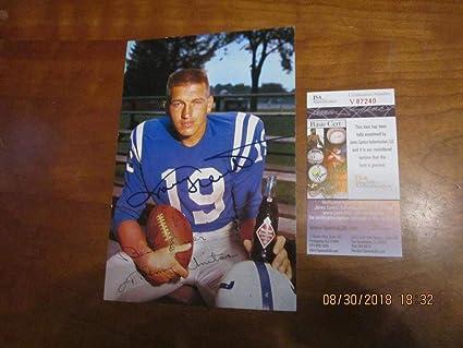 d6b91cb79bb John Unitas Baltimore Colts SIGNED Royal Crown Cola card ad em 6x9 ...