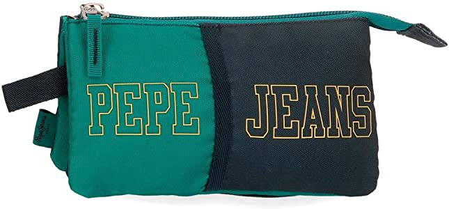 Estuche Pepe Jeans Mark Tres Compartimentos, Verde, 22x12x5 cm: Amazon.es: Equipaje