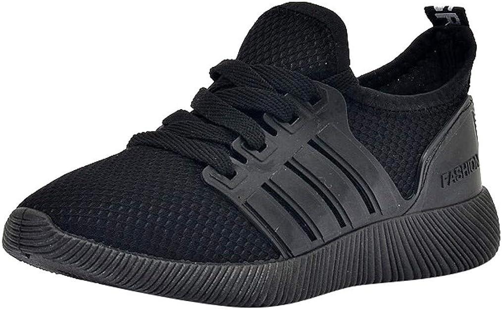 Logobeing Zapatillas Running Hombre Oferta Zapatillas de Deporte para Estudiantes Calzado Casual Respirable Zapatos de Cordones en Gimnasio (40, Negro): Amazon.es: Zapatos y complementos
