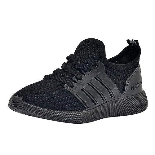 Logobeing Zapatillas Running Hombre Oferta Zapatillas de Deporte para Estudiantes Calzado Casual Respirable Zapatos de Cordones
